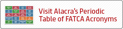 Visit Alacra's Periodic Table of FATCA Acronyms